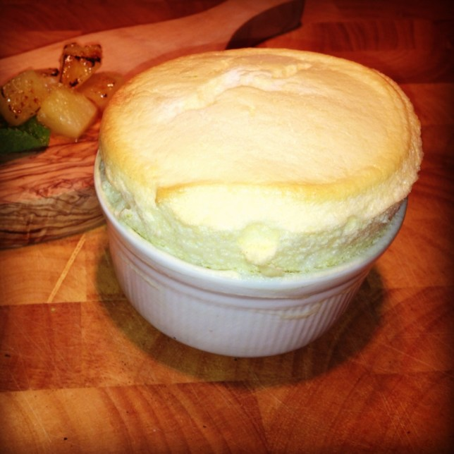 This soufflé reminds Shivi Ramoutar of a pina collada (Picture: supplied)
