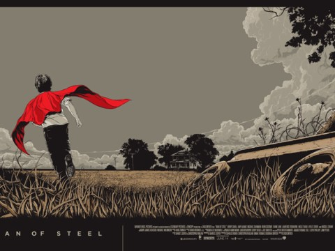 These Mondo Man of Steel posters are way better than the Warner Bros originals
