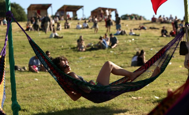 Glastonbury fans are hoping for sunshine (Picture: PA)