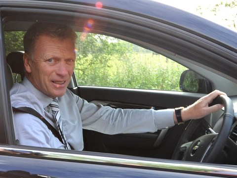 David Moyes arrives for his first day as manager of Manchester United
