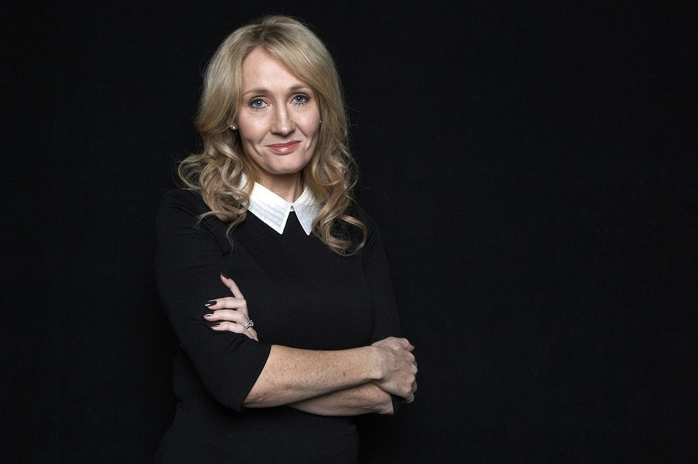"""This Oct. 16, 2012 photo shows author J.K. Rowling at an appearance to promote her latest book """"The Casual Vacancy,"""" at The David H. Koch Theater in New York. Rowling, the popular author of the """"Harry Potter"""" series, spoke for just over an hour before a capacity crowd in her sole U.S. public appearance to promote her first novel for grownups. DAN HALLMAN/INVISION/AP"""