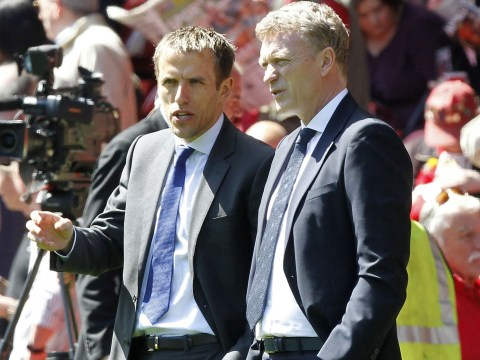 David Moyes adds Ryan Giggs and Phil Neville to Manchester United coaching staff