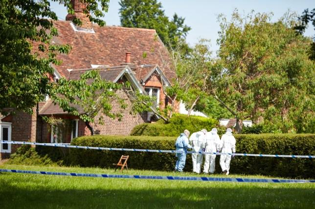 Murder manhunt: The crime scene (Picture: London News)