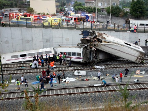 Gallery: Train crash kills dozens in Spain