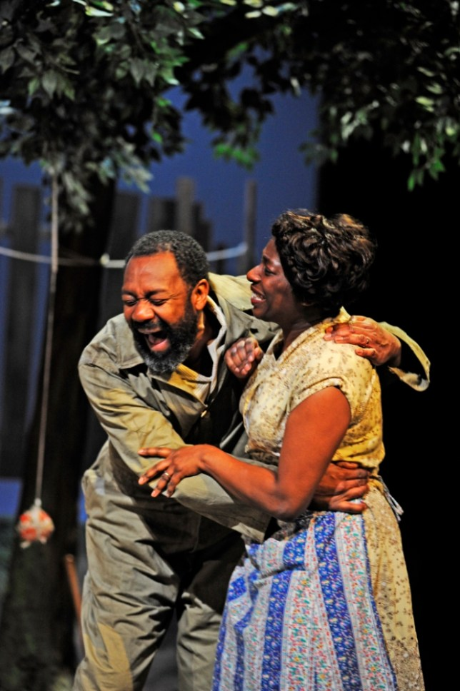 Lenny Henry and Tanya Moodie play husband and wife in August Wilson's Fences (Picture: Nobby Clark)