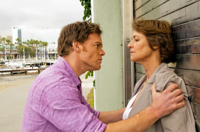 Charlotte Rampling and Michael C Hall in the final series of Dexter (Picture: Showtime)