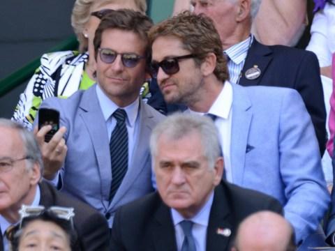 Gerard Butler shrugs off Wimbledon 'selfie' with Bradley Cooper