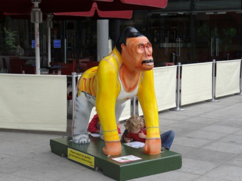 Charity goes ape over Freddie Mercury gorilla statue
