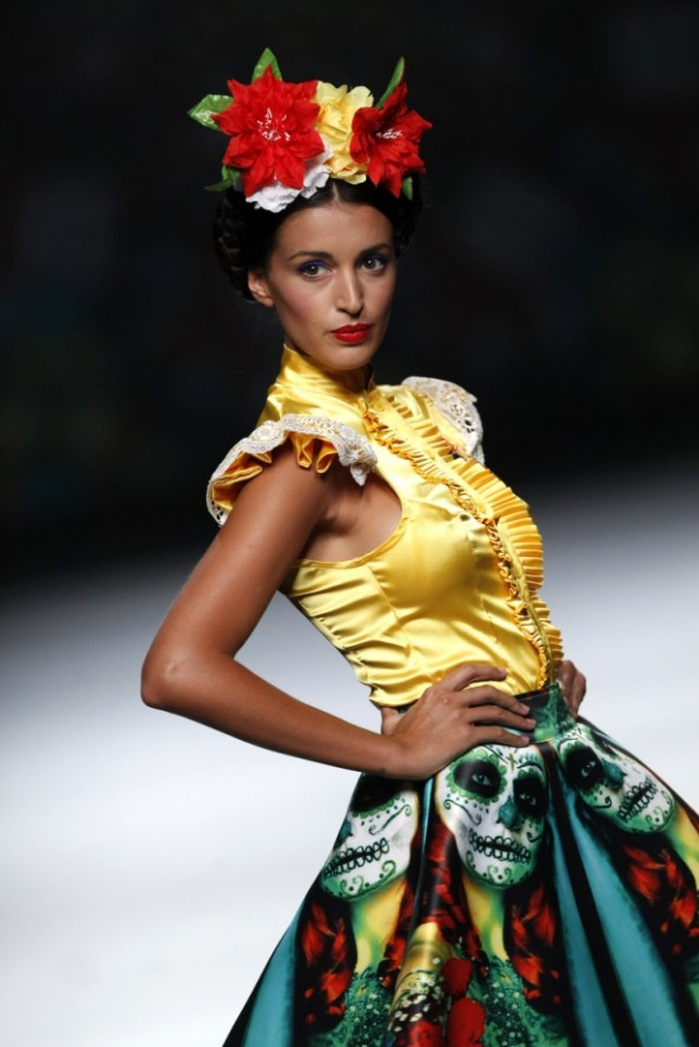 Madrid designer Maya Hansen's creations take to the catwalk (Picture: Corbis)