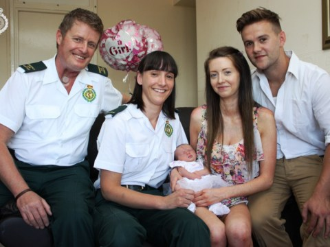 Mother names baby girl Ella after high-rise delivery