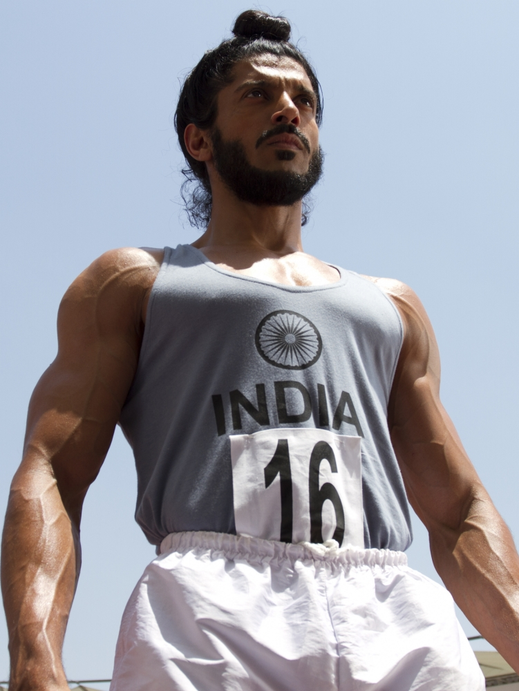 Farhan Aktar plays Milkha Singh in Bhaag Milkha Bhaag (Picture: Getty)