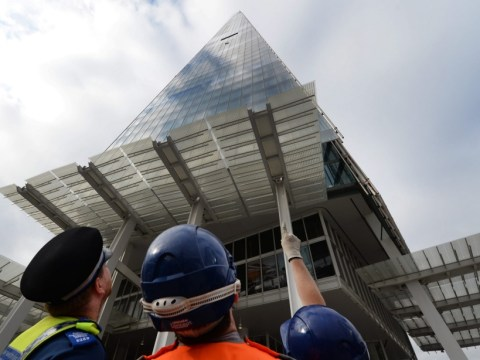 Greenpeace activists aiming to hang 'huge work of art' off top of The Shard in drilling protest climb