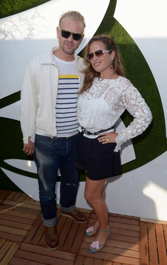 Jade Jagger and husband DJ Adrian Fillary in the VIP Lounge at Barclaycard presents British Summer Time in Hyde Park, London, on Saturday July 13, 2013. (Photo by Jon Furniss/Invision/AP Images)