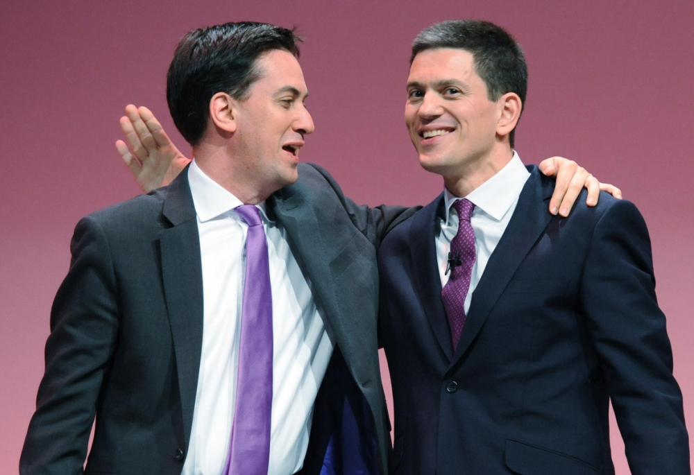 "File photo dated 27/9/10 of Labour Party leader Ed Miliband (left) with his brother David, as David Miliband has said his relationship with brother Ed is ""healing"" in the wake of their bitter battle for the Labour leadership. PRESS ASSOCIATION Photo. Issue date: Sunday July 14, 2013. The former foreign secretary admitted that he would ""never erase"" the memory of his defeat in the 2010 contest. See PA story POLITICS Miliband Brothers. Photo credit should read: Stefan Rousseau/PA Wire"