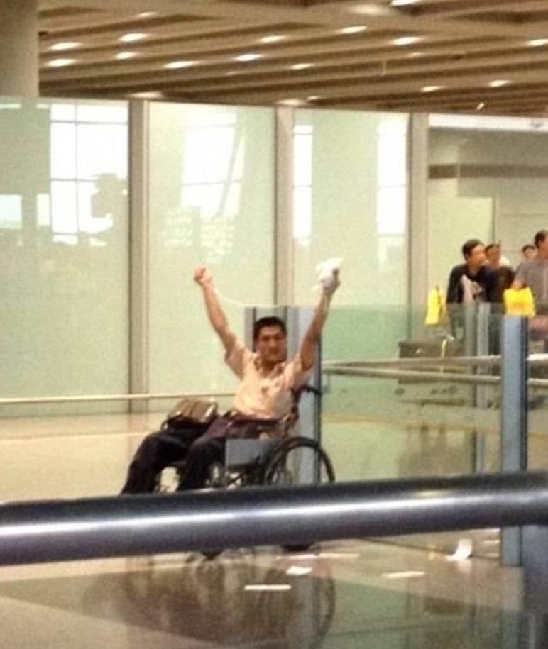 Wheelchair user explodes bomb at Beijing airport terminal