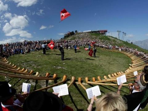 Gallery: International alphorn festival in Nendaz, Switzerland
