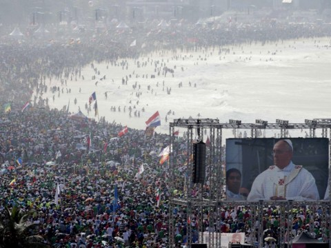 Down at the Pope-acabana: 3million turn out in Brazil for glimpse of pontiff