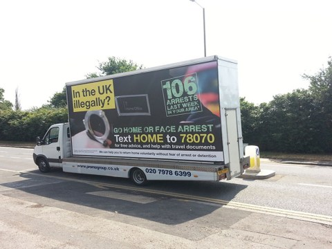Government 'go home' vans blamed for 'racist mosque attack' in Corby