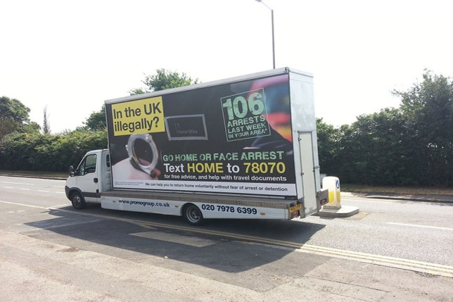 'Go home illegal immigrants' van could be rolled out nationwide