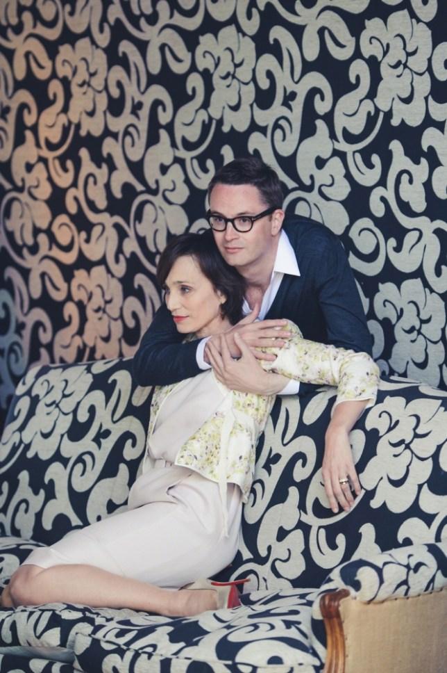 Kristin Scott Thomas and director Nicolas Winding Refn (Picture: FameFlynet.uk.com)
