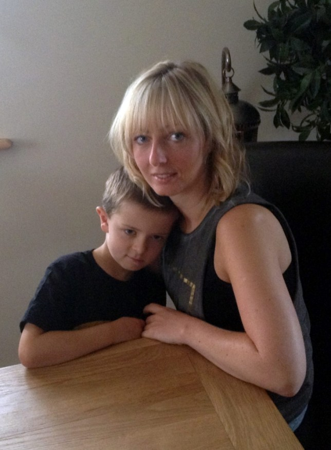 Devastated Alfie Waine with his mum Emma Hardy.  See copy RPYTOYS.  Emma Hardy has accused airport staff of over-reaction after they seized her five-year-old son's Teenage Mutant Ninja Turtle toy weapons.  Little Alfie Waine fell foul of security checks with his eight-inch Leonardo plastic sword, his Donatello staff and a silver light-up laser handgun. His mum Emma Hardy, 31, said staff at Leeds Bradford Airport told her the toys breached security regulations because they looked like imitation weapons. SWNS.com