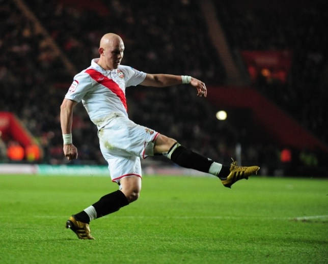 SOUTHAMPTON V MANCHESTER UNITED FA CUP 4TH ROUND. PIC DARREN JACK. RICHARD CHAPLOW SCORES 1-0