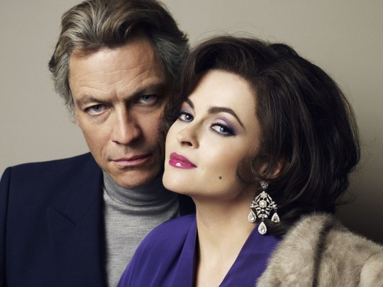 Dominic West and Helena Bonham-Carter play the titular glamorous couple (Picture: BBC)