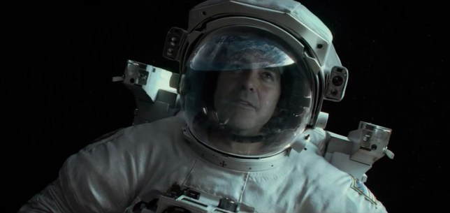 Georg Clooney in Gravity trailer (Picture: Warner Bros)