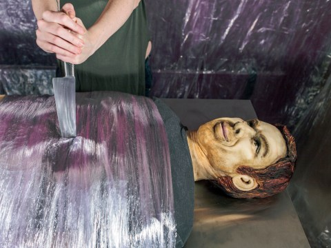 Life-sized cake replica of Dexter Morgan sliced up in 'kill room'