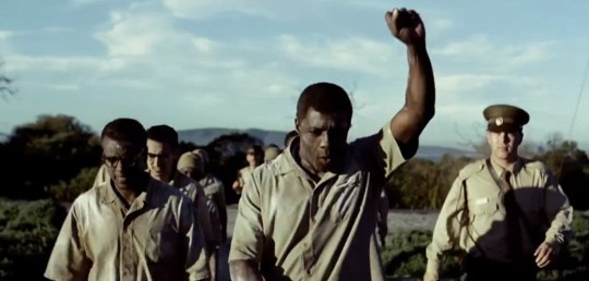 Idris Elba stars as Nelson Mandela in Long Walk To Freedom (Picture: YouTube)