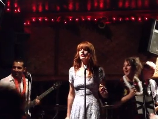 Florence Welch sings Get Lucky