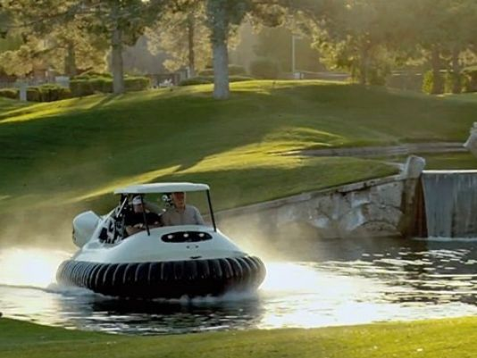 Genius! Ohio golf club introduces 'hovercraft golf carts' for players to get around