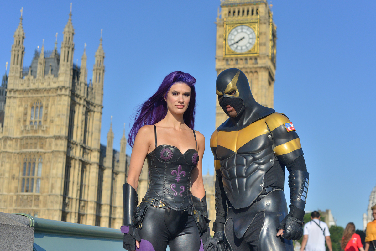 Gallery: US Superheroes invade London for superpower summit