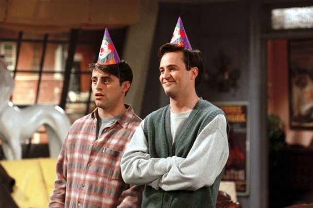 TELEVISION PROGRAMMES... Friends; Matt le Blanc (left) pictured as Joey, with Matthew Perry as Chandler, in a scene from the US sitcom.