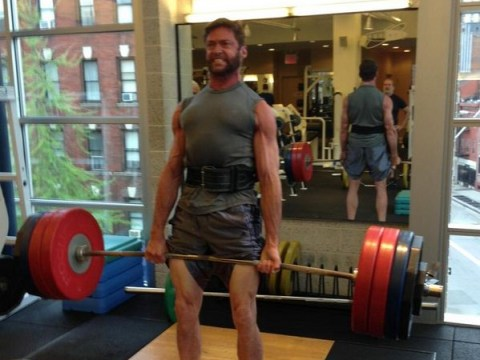 Hugh Jackman hits the gym to get even more buff for X-Men: Days of Future Past