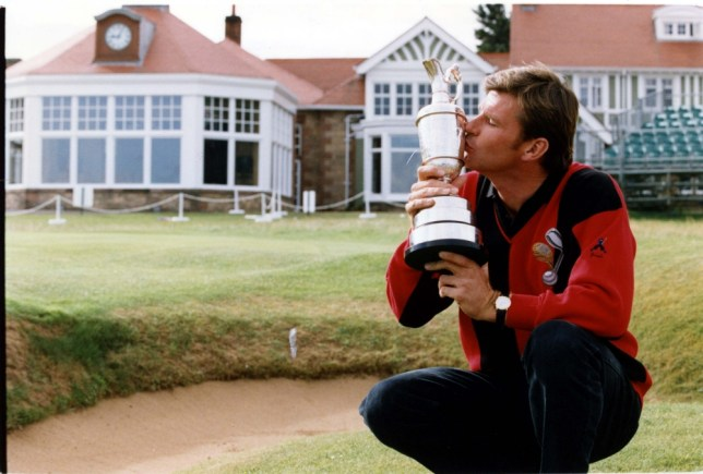 Nick Faldo, the Open champion, yesterday revealed that he intends, to quit world golf by the end of the decade - and then go fishing.  The 35-year-old multi-millionaire outlined his surprise retirement plan the morning after his emotional one-stroke victory at Muirfield had earned him his third Open title in six years. Nick Faldo, enjoying the calm after the spectacle, surveys the scene of his Open triumph. PKT5619-409873  . REXMAILPIX.