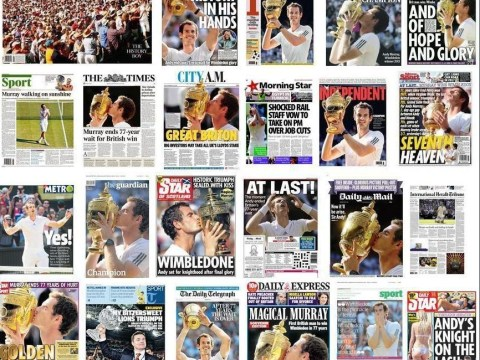 Andy Murray: How the papers reported his Wimbledon victory