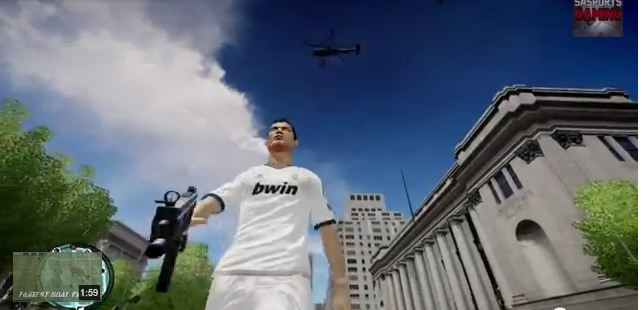 VIDEO: Cristiano Ronaldo enjoys different kind of shooting practice in Grand Theft Auto
