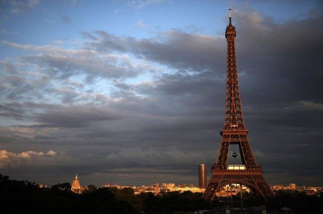 The Eiffel Tower was completely evacuated today due to a bomb scare (Picture: AFP/Getty Images)