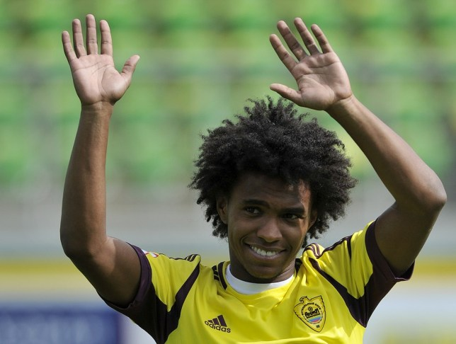 Happy: Willian (Picture: Getty Images)