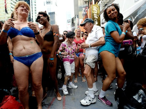 Gallery: Guinness Book of World Records' for 'the most amount of people gathered in their underwear' 2013 in Times Square, New York