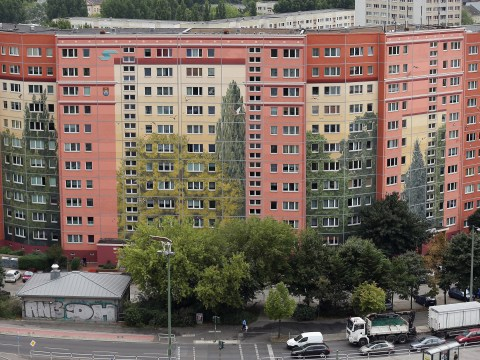 Gallery: Largest mural on an inhabited building in the world