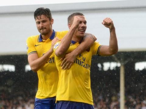 Lukas Podolski brace and Olivier Giroud strike help injury hit Arsenal beat Fulham