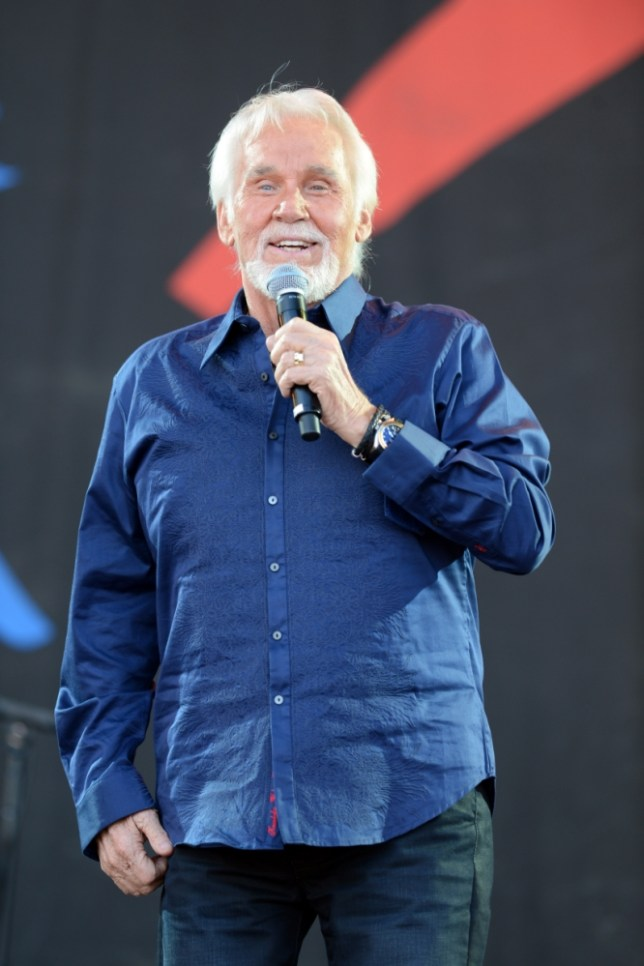 Kenny Rogers performed to a huge crowd at Glastonbury (Picture: Mark Large)