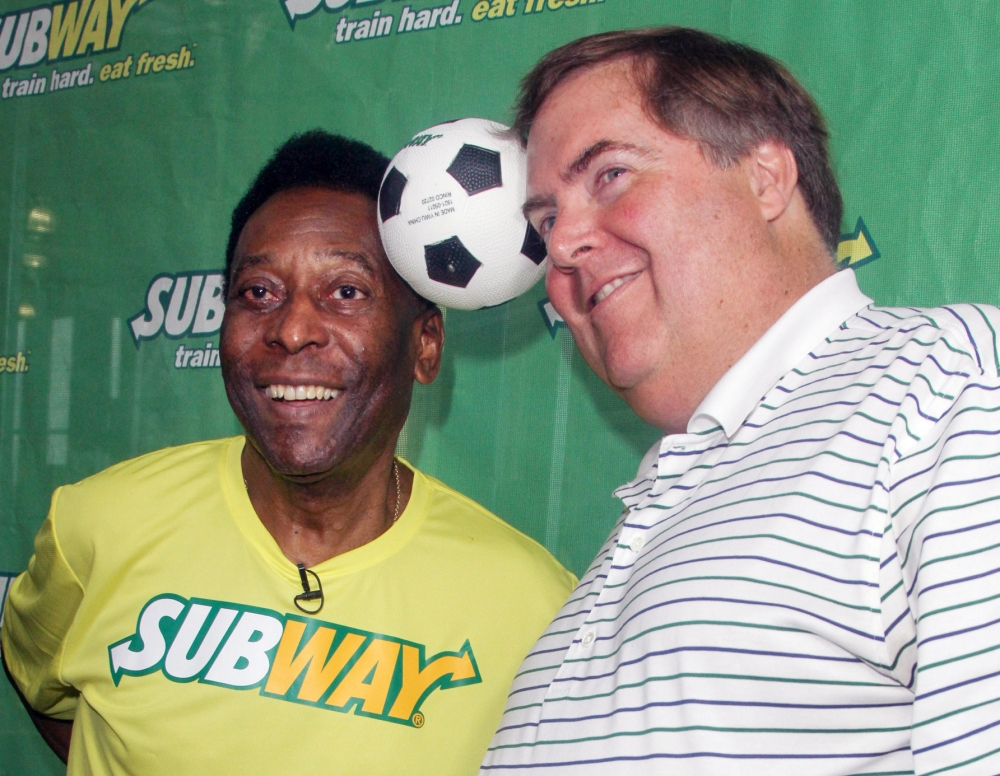 Pele handed new roll on Sub's bench: Video