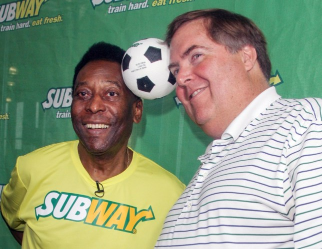 31 JUL 2013- NEW YORK - USA SOCCER LEGEND PELE MAKES FIRST APPEARANCE AS SUBWAY'S GLOBAL AMBASSADOR AT THE FIELD HOUSE AT CHELSEA PIERS IN MANHATTAN! BYLINE MUST READ : XPOSUREPHOTOS.COM *AVAILABLE FOR UK SALE ONLY* ***UK CLIENTS - PICTURES CONTAINING CHILDREN PLEASE PIXELATE FACE PRIOR TO PUBLICATION *** **UK CLIENTS MUST CALL PRIOR TO TV OR ONLINE USAGE PLEASE TELEPHONE 44 208 370 0291**