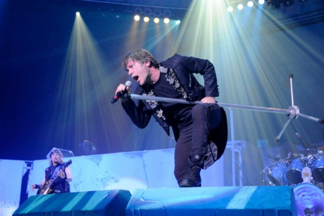 Iron Maiden (singer Bruce Dickinson) will play at the O2 Arena (Picture: Alamy)