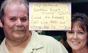 Ashes-in-a-bottle widow grants husband's wish to see the world