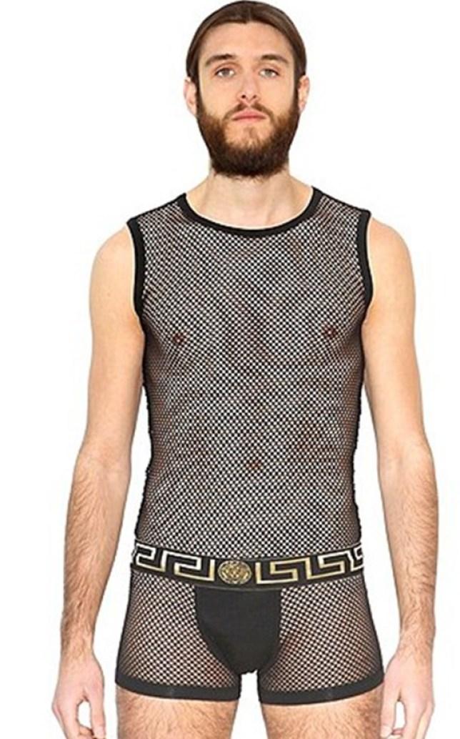 Versace launch £100 mesh bodysuit for men