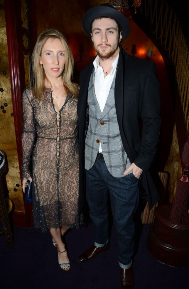 Mandatory Credit: Photo by Richard Young / Rex Features (2052360d)  Sam Taylor Wood and Aaron Taylor Johnson  Tom Ford London Collections Party at Loulou's, London, Britain - 09 Jan 2013